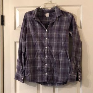 The Perfect Shirt J. Crew Women's Button Down SZ S